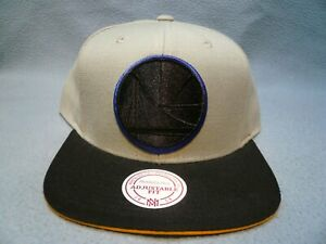 Mitchell-amp-Ness-Golden-State-Warriors-XL-Grayout-BRAND-NEW-Snapback-cap-hat-GS