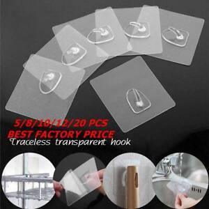 Anti-skid-Hook-Reusable-Strong-Sticky-Scrub-Traceless-Transparent-Hook-Wall-Door