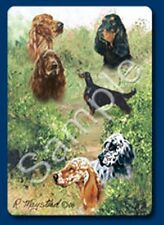 Playing cards: English, Gordon, and Irish Setters Dog Playing Cards Designed by