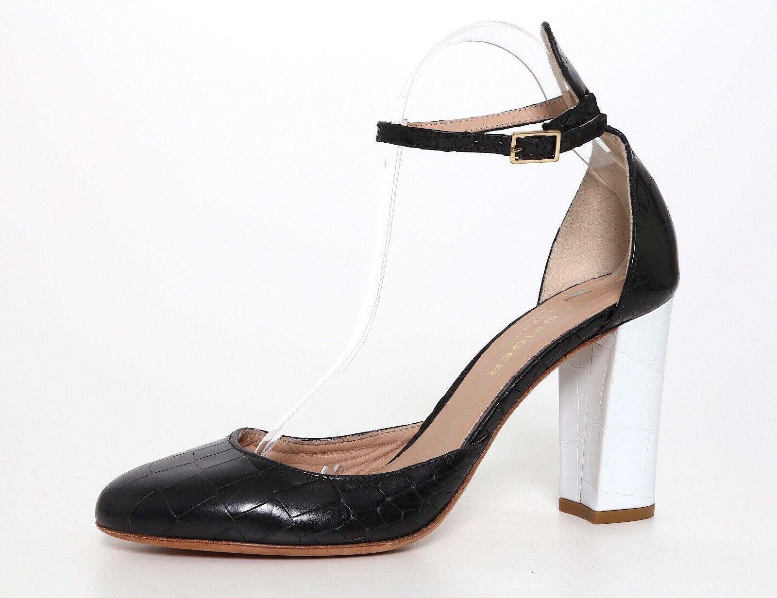 Kurt Geiger Myra Ankle Strap Leather Heels Black Women Sz 40 EUR 1152