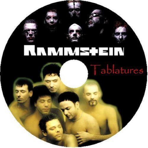 RAMMSTEIN BASS /& GUITAR TAB CD TABLATURE GREATEST HITS BEST OF METAL MUSIC AUDIO