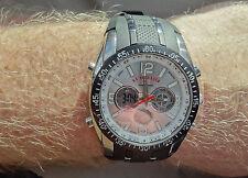 U.S. US Polo Assn Association Watch Black/Silver Digital Alarm & Stopwatch