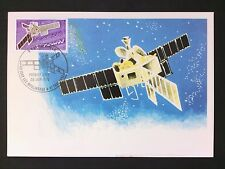 FRANCE MK 1976 WELTRAUM SPACE SATELLITE MAXIMUMKARTE CARTE MAXIMUM CARD MC d40