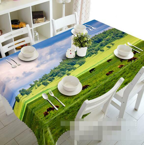 3D Prairie 534 Tablecloth Table Cover Cloth Birthday Party Event AJ WALLPAPER AU
