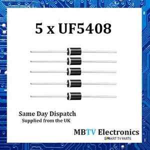 Vishay-UF5408-ultraveloci-Raddrizzatori-in-plastica-1000V-3A-1-7V-150A-150-C-confezione-da-5