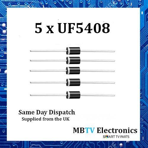 Vishay UF5408 ultrarrápida rectificadores de plástico 1000V 3A 1.7V 150A 150 ° C-Paquete de 5