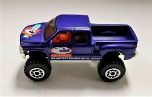 1999-Matchbox-Purple-Surfshop-Chevrolet-Silverado-4X4-Nice-Condition