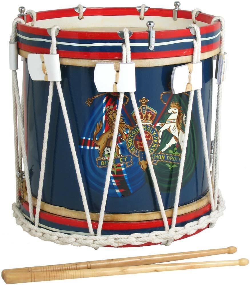 Atlas Militär Stil Seite Trommel, 35.6cm, Bauch Snare mit Trommelstöcke. Von