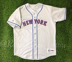Vintage 90s MIKE Piazza Majestic New York Mets Baseball Jersey USA ... 02d021d4f13