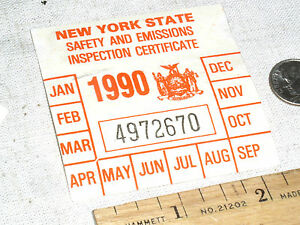 Image is loading VINTAGE-1990-NY-N-Y-S-NEW-YORK-STATE-CAR-