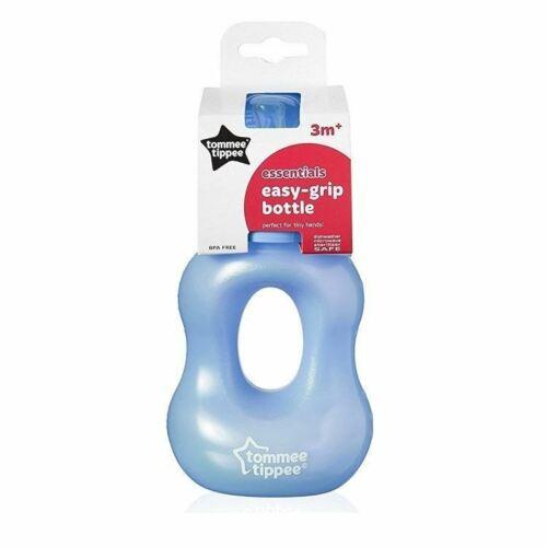 Tommee Tippee Essentials Easy-Grip Bottle 3M BLUE 240ml 1 2 3 6 12 Packs