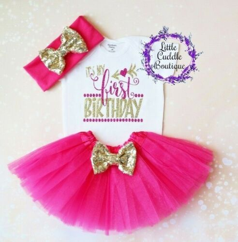 Photo Shoot It/'s My First Birthday Bodysuit Details about  /First Birthday Baby Tutu Outfit