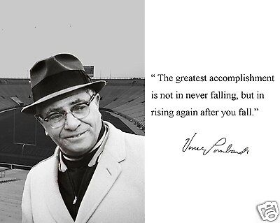 Coach Vince Lombardi Green Bay Packers Quote 8 x 10 Photo Picture #rb5
