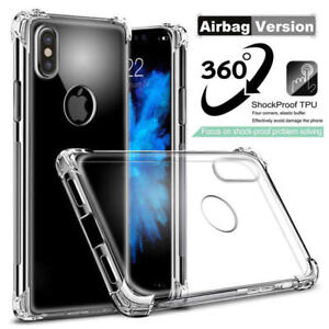 For-iPhone-X-8-7-Plus-Clear-ShockProof-Bumper-Transparent-Sillicone-Case-Cover