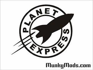 Planet-Express-Computer-PC-Case-Window-Applique-Vinyl-Decal-Color-Choices