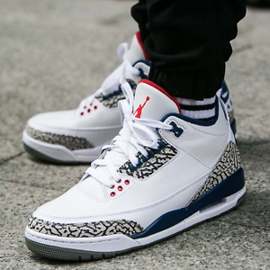 bc84de1c3771 Nike Air Jordan 3 White Cement Grey True Blue Style Code 854262-106 ...