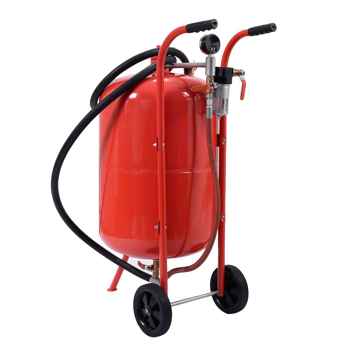 20 Gallon Sandblaster Sand Blaster Portable Air Media Abrasive Blasting Tank New