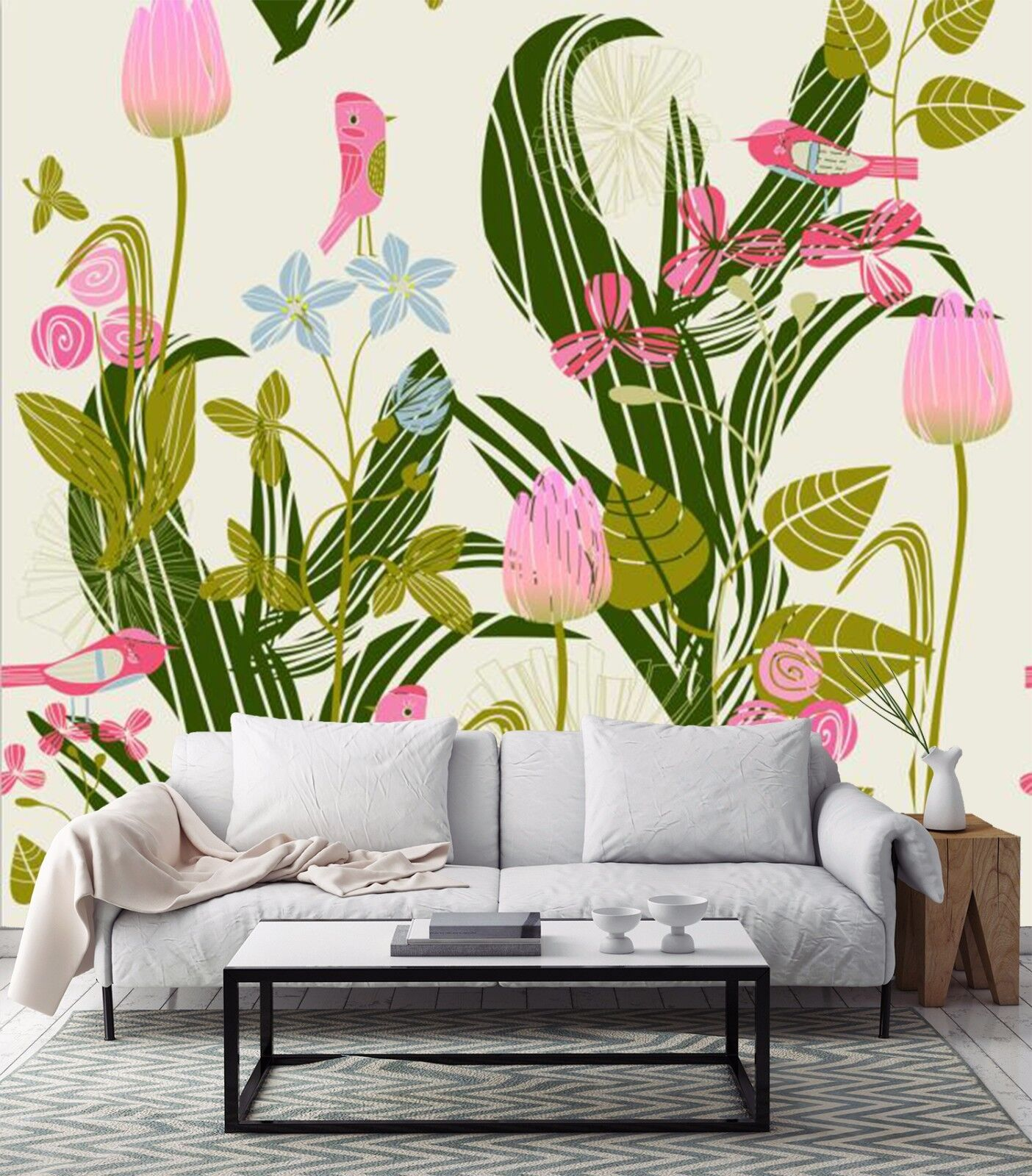 3D Leaves Flowers 973 Wallpaper Mural Paper Wall Print Wallpaper Murals UK