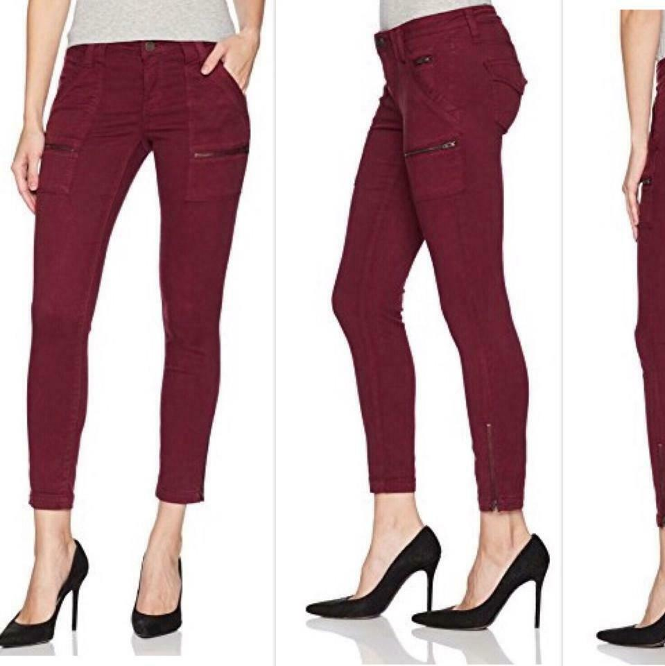 Joie Jeans Deep Verbena Park Skinny Ankle Twill Moto Cargo Jeans NWT 32