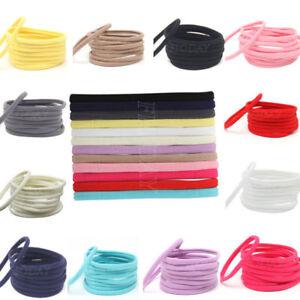 10-Solid-Nylon-Elastic-Headband-Baby-Girls-Women-Child-Kids-Hairband-Accessories