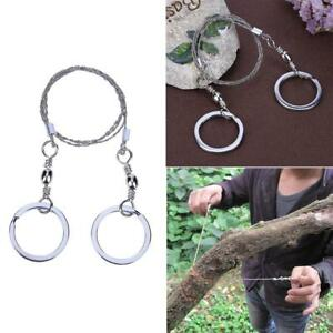 2X Portable Emergency Survival Gear Steel Wire Saw Outdoor Camping Hiking Tool