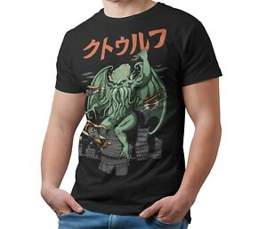 Cthulhu-Mythos-T-Shirt-Kaiju-Japanese-Monster-Unisex-Tee-Shirt-Adult-amp-Kids