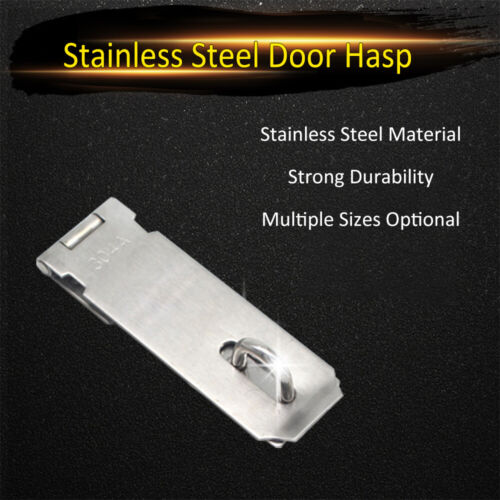Padlock Hasp Stainless Steel Gate Latches Lock Safety Door Clasp Hasp Latch A7I7