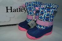 Hatley Toddler Girls Size 7 Cold Weather Winter Snow Boots Butterflies Blue/pink