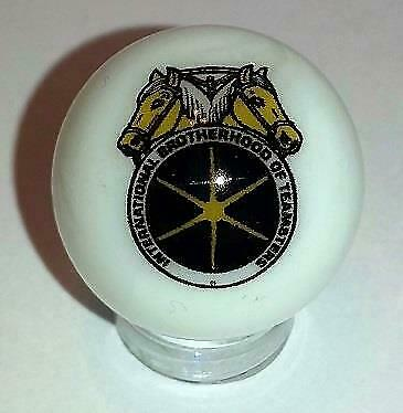 "Nice Teamsters Glass 1/"" Logo Marble With Stand # A"