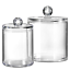 Bathroom Vanity Storage Organizer Canister Holder Apothecary Jars Set for Clear