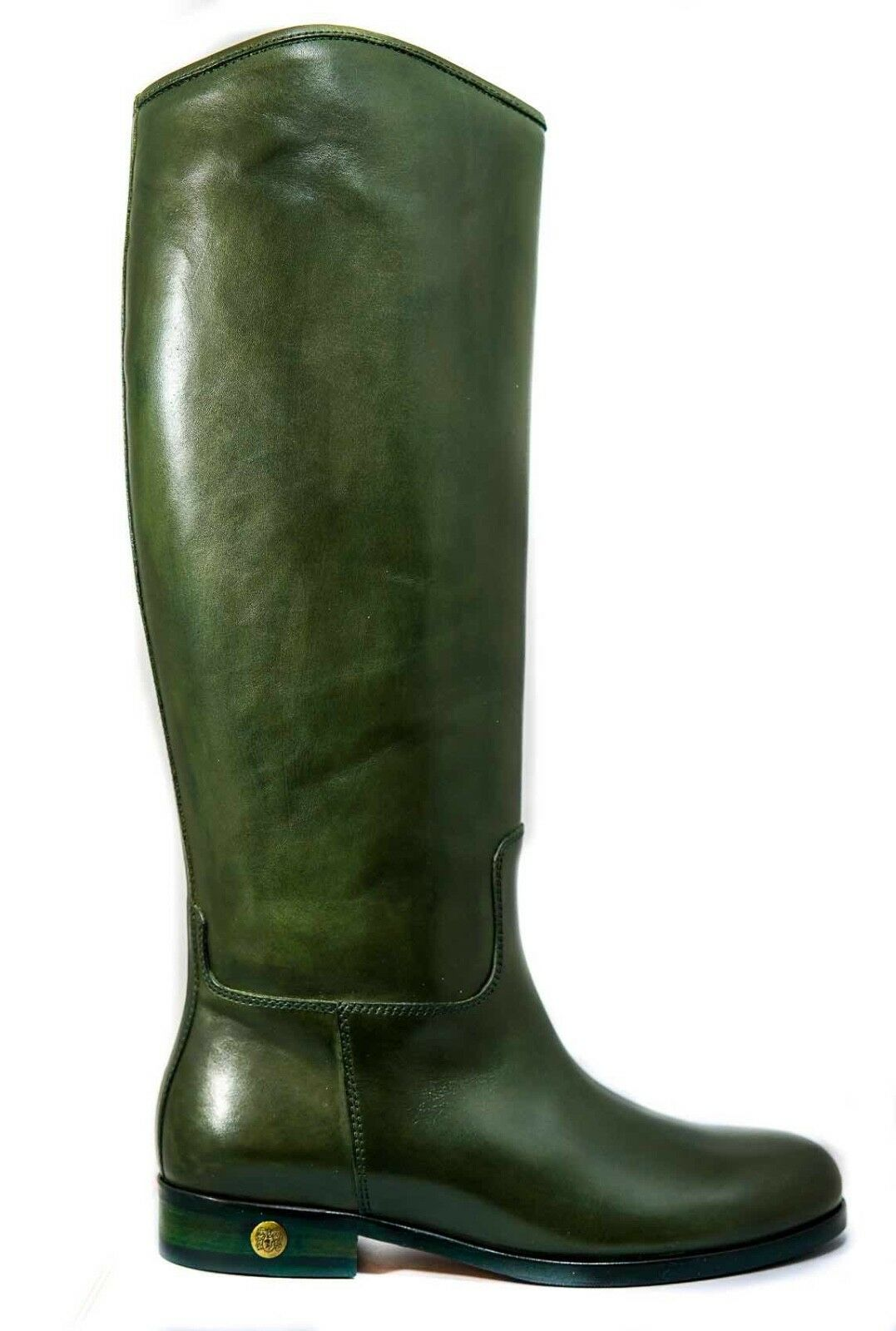 New New New in Box Bruno Magli Gouin Green Ladies Leather Boots 8c8505