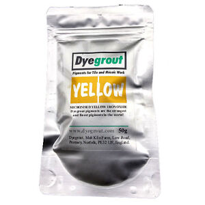 50-grams-Yellow-Grout-Pigment-for-Mosaics-Cement-Dye-by-Dyegrout