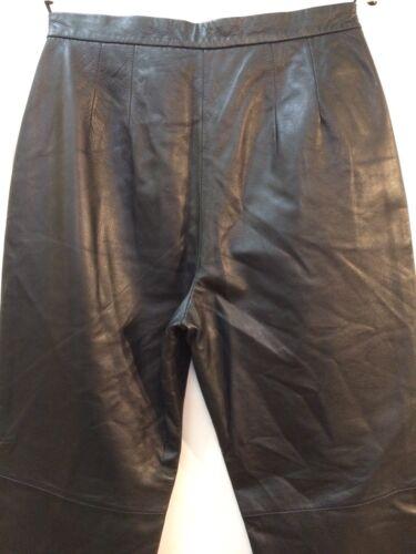 in donna grezzo Co Pantaloni Colebrook orlo nero Nwt taglia da 8 pelle gqZ6w