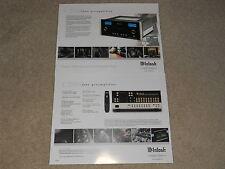 McIntosh C2500 Tube Preamplifier Brochure 2 pages, Specs, Info