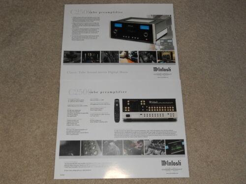 Info McIntosh C2500 Tube Preamplifier Brochure 2 pages Specs