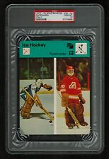 PSA 10 FACEMASKS 1979 Sportscaster Hockey #50-04 JACQUES PLANTE & DAN BOUCHARD