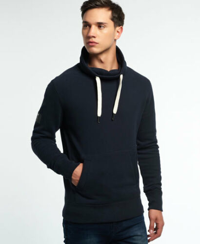 New Mens Superdry Surplus Goods Slouch Top Eclipse Navy