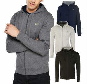 New-Lacoste-Sport-Mens-Full-Zip-Hooded-Sweatshirt-Sz-S-2XL-top-hoodie-jumper