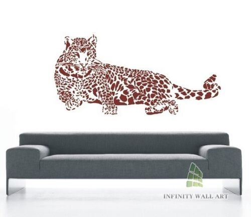 Top Design Leopard Wall Art Sticker PD92 Leopard Wall Decal Sticker