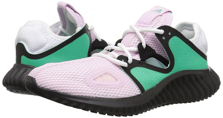 adidas Women's Lux Clima Running Shoe Aero Pink/Hi-Res Green/Black CG5110 sz 5.5