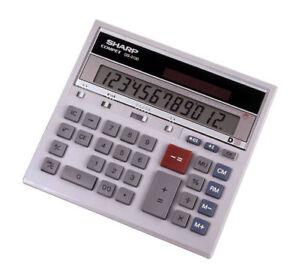 Sharp® QS-2130 Compact Desktop Calculator, 12-Digit LCD 074000010581