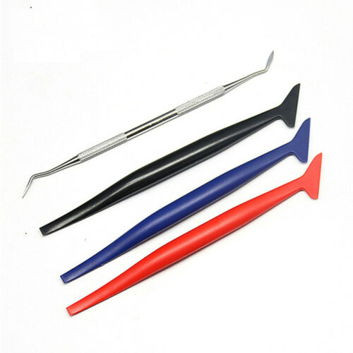 4PCS Car Vinyl Wrap Tuck Tools Gasket Squeegee for Decals Stickers Universal