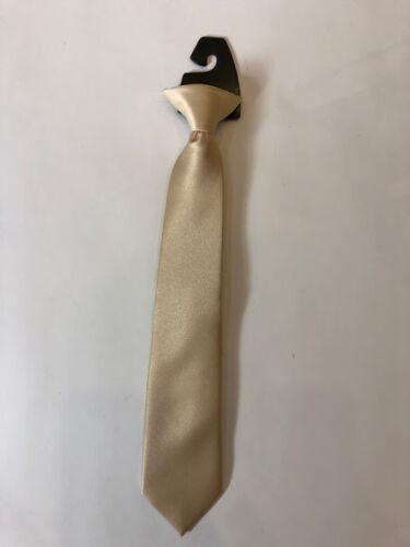 Boys/' Kids/' Children/'s Solid Pre Tied  Neck Wear  Ready to Clip On Tie 14/' inch