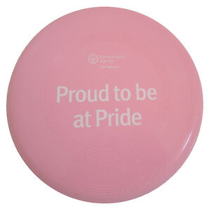 Pink Frisbee PROUD TO BE AT PRIDE Environment Agency Gay Lesbian LGBT Network - UK, United Kingdom - Pink Frisbee PROUD TO BE AT PRIDE Environment Agency Gay Lesbian LGBT Network - UK, United Kingdom