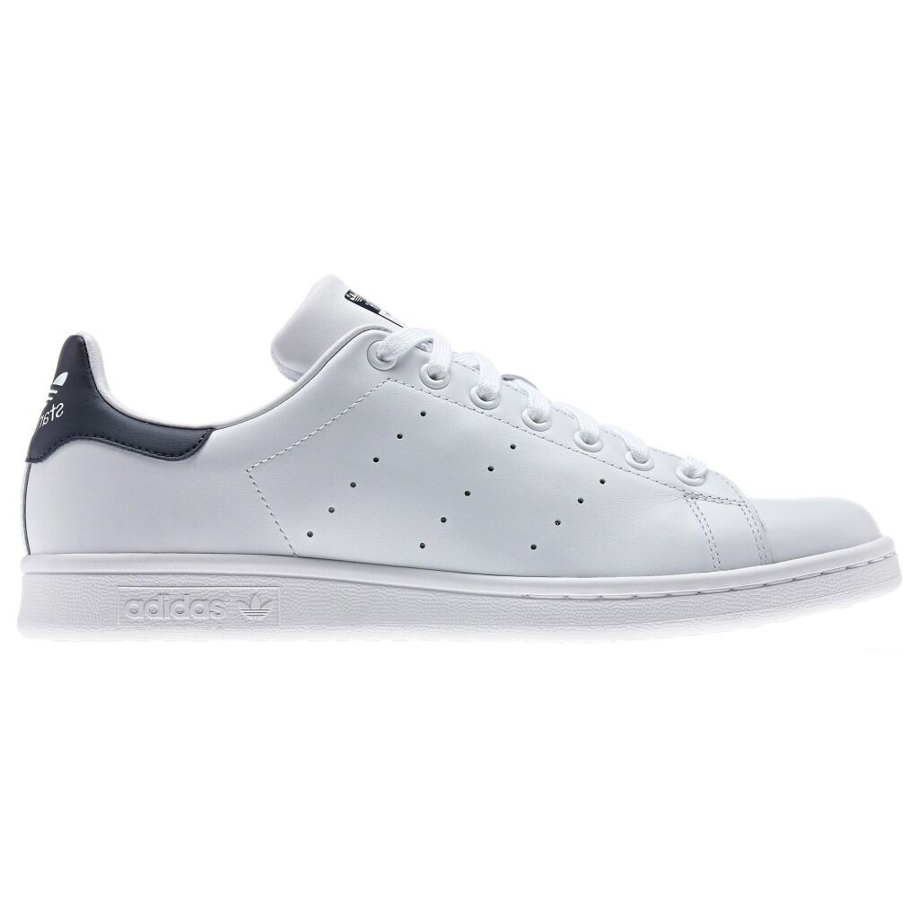 adidas Stan Smith Mens Trainer Shoe Size 7 to 10.5 White Navy RRP 70/-