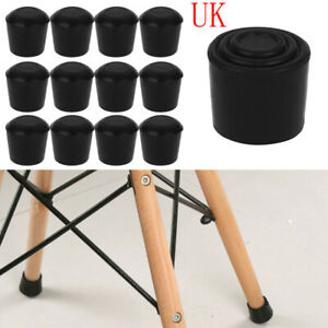 UK 16-25mm Plastic Table Cabinets Chair Leg Feet Floor Pad Skid Glide Protectors