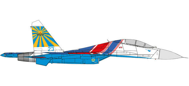 Russian Knights Aerobatic Demonstration Team Sukhoi SU-27UB (Flanker C) 237TSPA