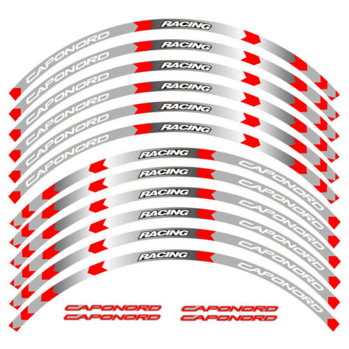 """For APRILIA CAPONORD 1200 CUSTOM OUTER 17/"""" RIM STRIPES WHEEL DECAL TAPE STICKERS"""