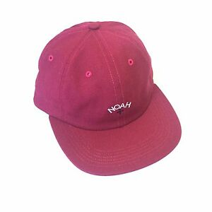 2fa7c232aa7 Details about NEW Noah Men s Berry Pink Core Logo Embroidered Dad Hat  Strapback Cap AUTHENTIC