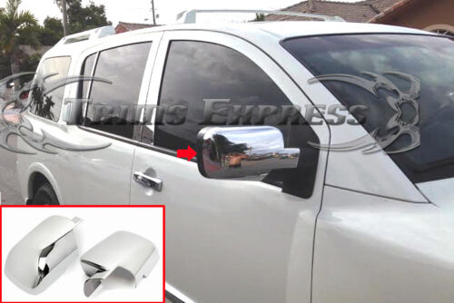 fits 2004-2015 Nissan Titan//2005-2015 Armada Chrome Door Mirror Cover-2Pc